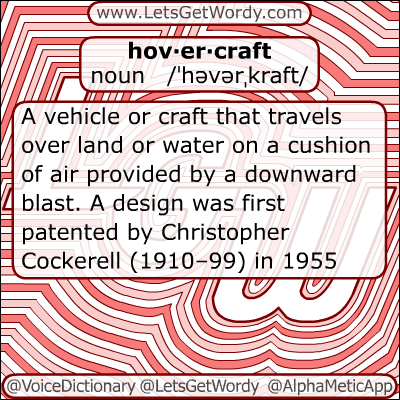 Hovercraft 12/12/2012 GFX Definition of the Day
