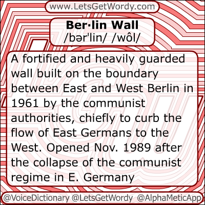 Berlin wall 12/20/2012 GFX Definition of the Day