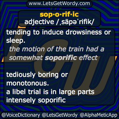 Soporific 12/20/2013 GFX Definition