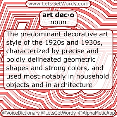 Art Deco 12/27/2012 GFX Definition of the Day