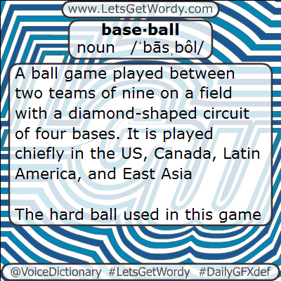 Baseball 01/29/2013 GFX Definition of the Day
