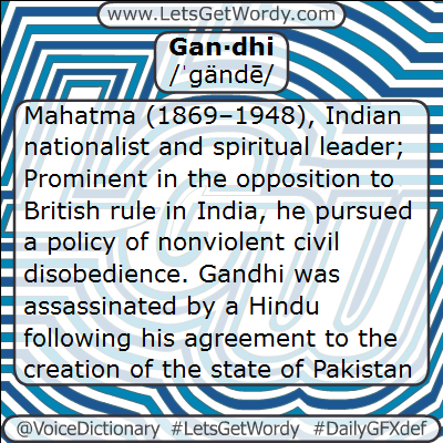 Gandhi 01/30/2013 GFX Definition of the Day